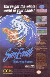 Advert for Sim Earth: The Living Planet on the NEC PC Engine CD.