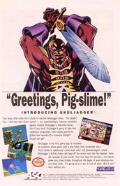 Advert for Sküljagger: Revolt of the Westicans on the Nintendo SNES.