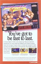 Advert for Street Fighter II Turbo: Hyper Fighting on the Nintendo SNES.