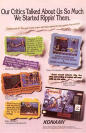 Advert for Super Castlevania IV on the Nintendo SNES.