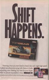 Advert for Top Gear on the Nintendo SNES.