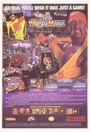 Advert for WWF Super Wrestlemania on the Nintendo SNES.
