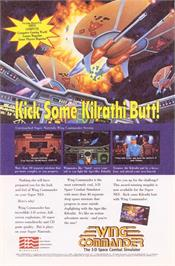 Advert for Wing Commander: The Secret Missions on the Nintendo SNES.