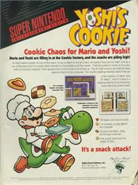Advert for Yoshi's Cookie on the Nintendo NES.