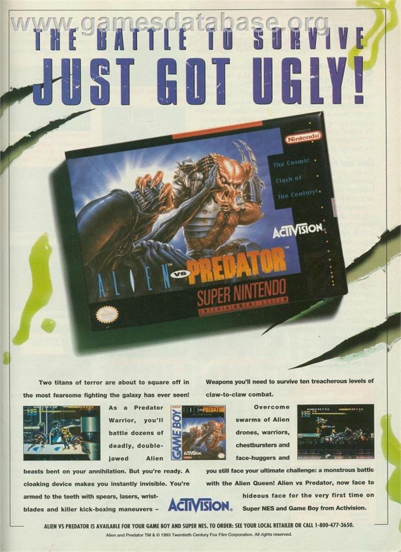 Alien Vs Predator Nintendo Snes Games Database