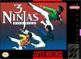 Box cover for 3 Ninjas Kick Back on the Nintendo SNES.