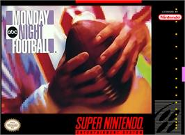 Box cover for ABC Monday Night Football on the Nintendo SNES.