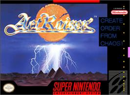 Box cover for ActRaiser on the Nintendo SNES.