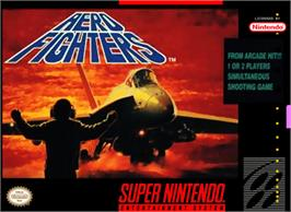 Box cover for Aero Fighters on the Nintendo SNES.