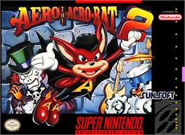 Box cover for Aero the Acro-Bat 2 on the Nintendo SNES.