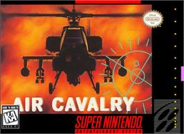 Box cover for Air Cavalry on the Nintendo SNES.