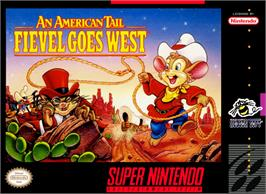 Box cover for An American Tail: Fievel Goes West on the Nintendo SNES.
