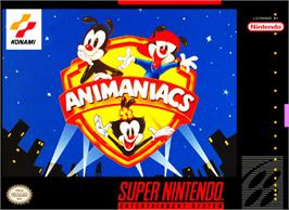 Box cover for Animaniacs on the Nintendo SNES.