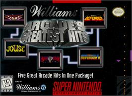 Box cover for Arcade's Greatest Hits: The Atari Collection 1 on the Nintendo SNES.