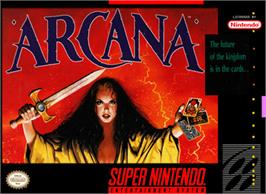 Box cover for Arcana on the Nintendo SNES.