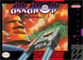 Box cover for Arkanoid: Doh It Again on the Nintendo SNES.