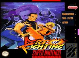 Box cover for Art of Fighting on the Nintendo SNES.