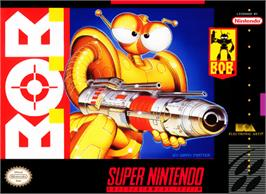 Box cover for B.O.B. on the Nintendo SNES.