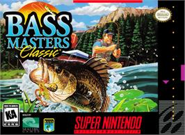 Box cover for BASS Masters Classic on the Nintendo SNES.