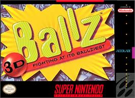 Box cover for Ballz 3D on the Nintendo SNES.