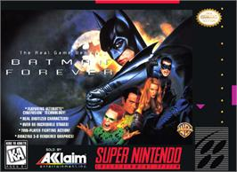 Box cover for Batman Forever on the Nintendo SNES.