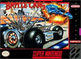 Box cover for Battle Cars on the Nintendo SNES.