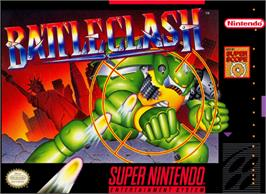 Box cover for Battle Clash on the Nintendo SNES.