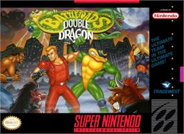 Box cover for Battletoads & Double Dragon: The Ultimate Team on the Nintendo SNES.