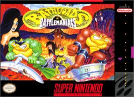 Box cover for Battletoads in Battlemaniacs on the Nintendo SNES.