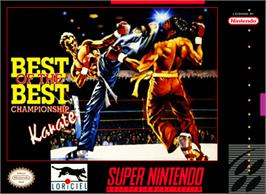 Box cover for Best of the Best Championship Karate on the Nintendo SNES.