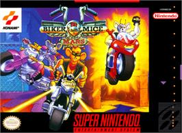 Box cover for Biker Mice From Mars on the Nintendo SNES.