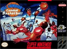 Box cover for Bill Laimbeer's Combat Basketball on the Nintendo SNES.