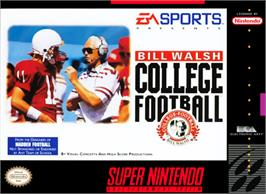 Box cover for Bill Walsh College Football on the Nintendo SNES.