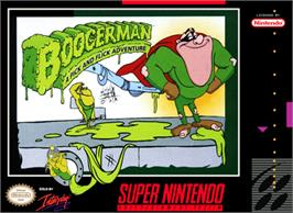 Box cover for Boogerman: A Pick and Flick Adventure on the Nintendo SNES.