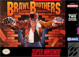 Box cover for Brawl Brothers: Rival Turf! 2 on the Nintendo SNES.
