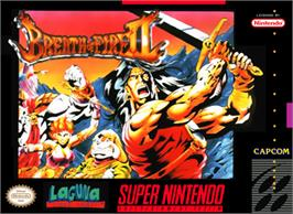 Box cover for Breath of Fire II on the Nintendo SNES.