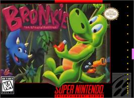 Box cover for Bronkie The Bronchiasaurus on the Nintendo SNES.