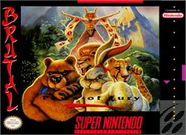Box cover for Brutal: Paws of Fury on the Nintendo SNES.