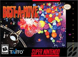 Box cover for Bust-A-Move on the Nintendo SNES.