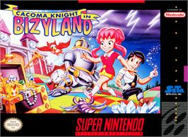 Box cover for Cacoma Knight in Bizyland on the Nintendo SNES.