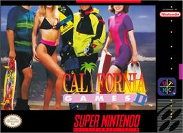 Box cover for California Games II on the Nintendo SNES.