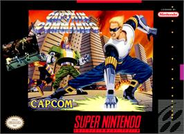 Box cover for Captain Commando on the Nintendo SNES.