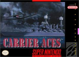 Box cover for Carrier Aces on the Nintendo SNES.