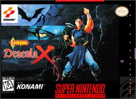 Box cover for Castlevania: Dracula X on the Nintendo SNES.