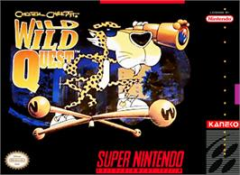 Box cover for Chester Cheetah: Wild Wild Quest on the Nintendo SNES.