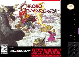 Box cover for Chrono Trigger on the Nintendo SNES.