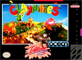 Box cover for Claymates on the Nintendo SNES.