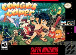 Box cover for Congo's Caper on the Nintendo SNES.