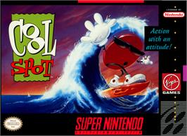 Box cover for Cool Spot on the Nintendo SNES.