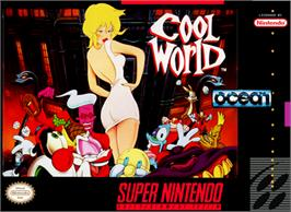 Box cover for Cool World on the Nintendo SNES.